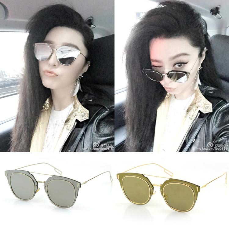 Flat Top Sunglasses Womens  new super quality metal flat top rivets sunglasses women alloy