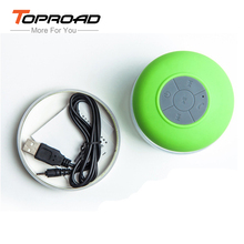 Water Resistant Shower Stereo Wireless Speaker Bluetooth Speaker with Sucker Support Hands-free Calls Function for Phone Laptop