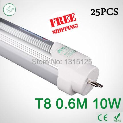 25PCS 2ft LED Tube T8 600mm 10W AC 85V-265V smd2835 Equal to Conventional Lamp 20W 4000K LED Fluorescent light via FedEx<br><br>Aliexpress