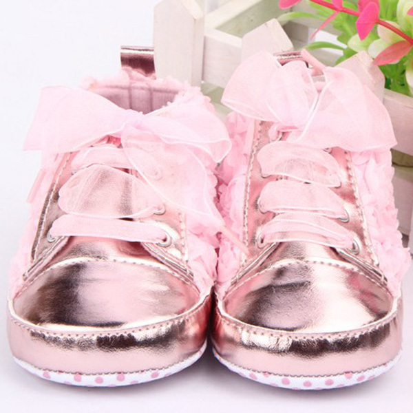 New First walkers kids Toddler Shoes sapatos baby Lace-up Rose flower soft sole Girl shoes Hot Free Shipping
