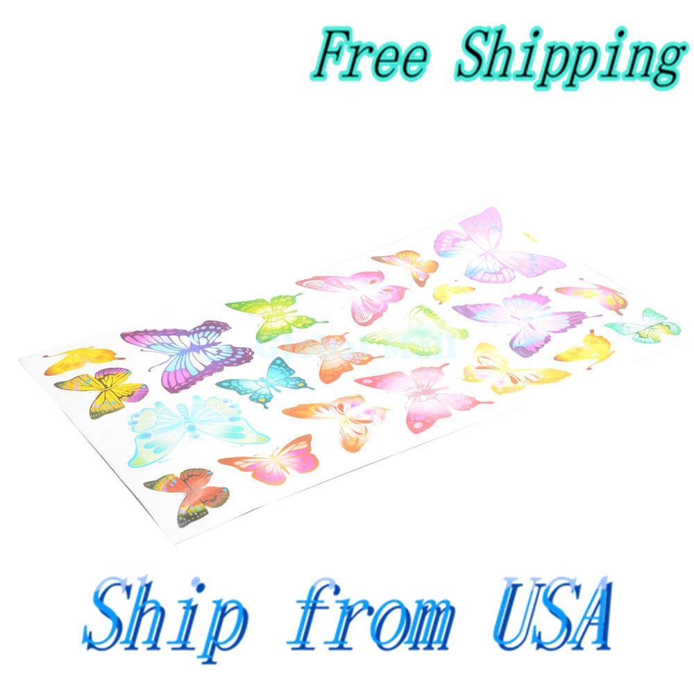 Ship From USA DIY Colorful Butterfly Art Wallpaper Decor Wall Stickers Decals J01956(China (Mainland))
