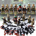 8PCS City Police Swat Team Jungle Siege Army soldiers With Weapons Guns LegoINGlys Military Figures WW2