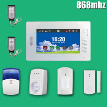 2015 hot sale touch screen gsm alarm host GSM security alarm system for home with English/Germany/Italian/Dutch menu