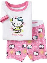 Girls pajamas set Hello Kitty Pajama suit clothing set Kids pijamas Children summer costume toddlers pyjamas 2-7Y for girls set