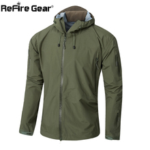 Army Gear Waterproof Hard Shell Military Jacket Men Spring Camo Hooded Tactical Jacket Thin Windbreaker Coat Camouflage Clothes(China (Mainland))
