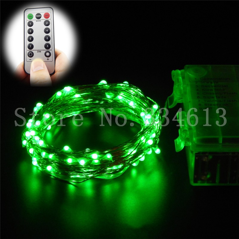 String Lights With Remote : RUICHEN 6m 10m Remote Control LED Fairy String lights Christmas Weddiing decor eBay