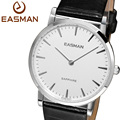 EASMAN Watches Men Fashion Black Genuine Leather White Classics Quartz Watch Switzerland Wristwatches New Men Watch