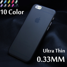 1pcs Matte Transparent Ultra-thin 0.3mm Back Case For iPhone 6 4.7 PC Protective Cover Skin Shell for Apple iPhone 6 plus 5.5