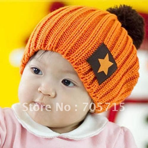 Retail Free Shipping Hot Sale Knitted Candy Colors baby cap,baby hat,baby hats