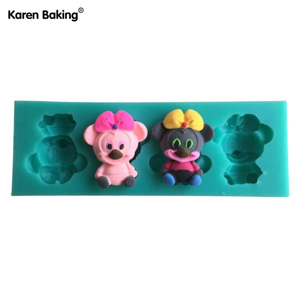Beautiful And Cute Mouse Shape Silicone 3D Fondant Cake Lace Mold For Cake Decorating -C428(China (Mainland))