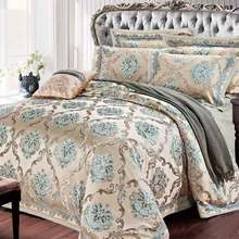 SILK PLACE Satin Luxury Bedding Set New Designer Cotton Bedding Sets Bed Sheet Jacquard Bedding Sets Duvet Cover(China (Mainland))