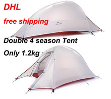 2016 DHL free shipping NatureHike 2 Person Tent ultralight 210T Plaid Fabric Tents Double-layer Camping Tent Outdoor Tent(China (Mainland))