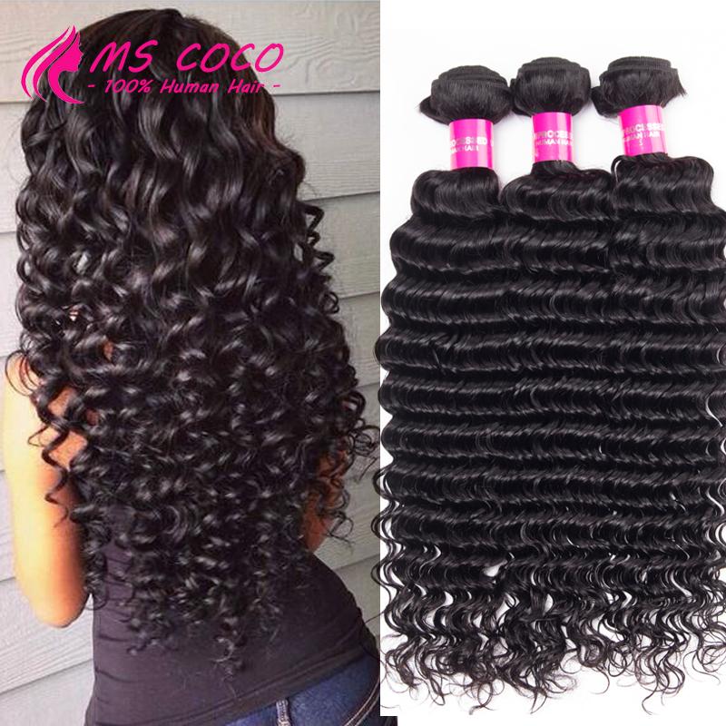 8A Grade Brazilian Deep Wave 3 Bundles Sexy Formula Hair Brazilian Virgin Hair Unprocessed Brazilian Curly Weave Human Hair(China (Mainland))