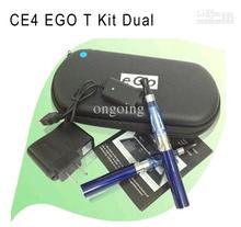 Wholesale – CE4 Ego Kit Electronic Cigarette Starter Kit Ecig E-Cigarette Zipper case 2 Atomizers 2 Battery