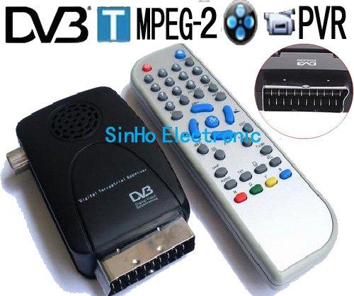DVB-801/Mini Scart Terrestrial Receiver Tv Tuner Dvb-t Freeview Receiver Box(China (Mainland))