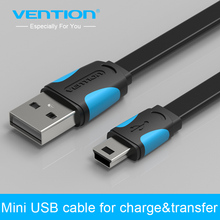 Vention MiNi USB cable 25cm 50cm 100cm 150cm 200cm mini usb to usb data sync charger cable for MP3 MP4 camera HDD mobile phone