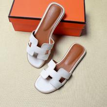 Verano de las mujeres corte sandalias de las señoras de lujo damas sandalias de marca de buena calidad zapatos planos de Color caramelo vacaciones al aire libre diapositivas 34 -43(China)