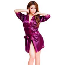 Feitong New Summer Women Bathrobe ladies Girls Sexy Lingerie Sleepwear Nightdress Wild Temptation Female Nightgown Bath Robes(China (Mainland))