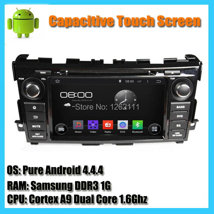 100% Pure Android 4.4 HD 1024*600 Car GPS Navigation Car Radio Stereo System Car DVD Player for Teana 2013 2014 support WiFi 3G(China (Mainland))