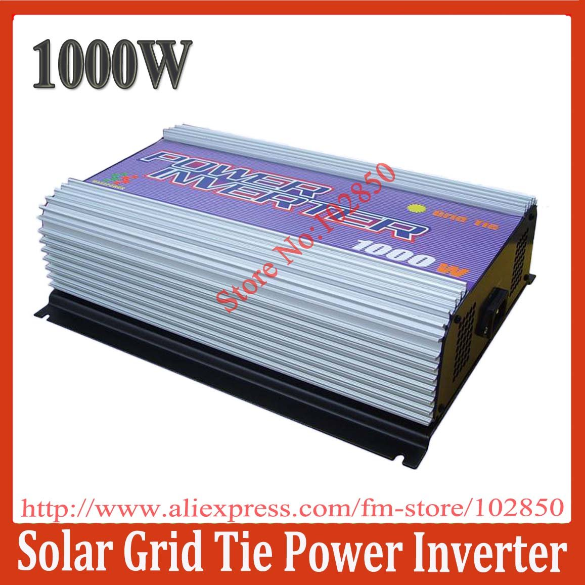 1000W Grid Tie Solar Power System Inverter,MPPT function,stackable use,Pure Sine Wave output current,CE(China (Mainland))