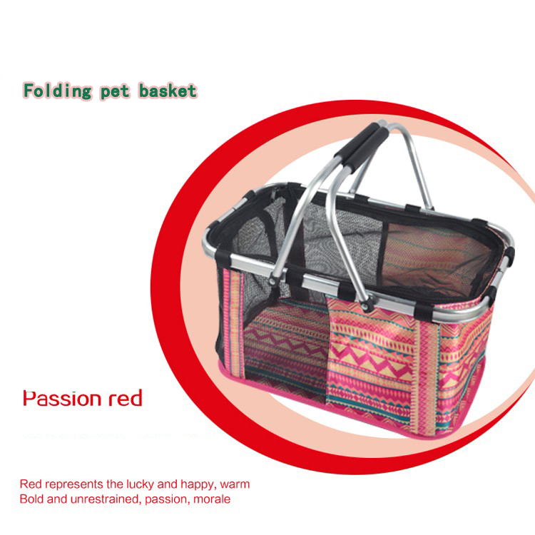 Soft Sided Pet Carrier Dog/Cat Foldable Travel Basket Portable Tote Bag(China (Mainland))