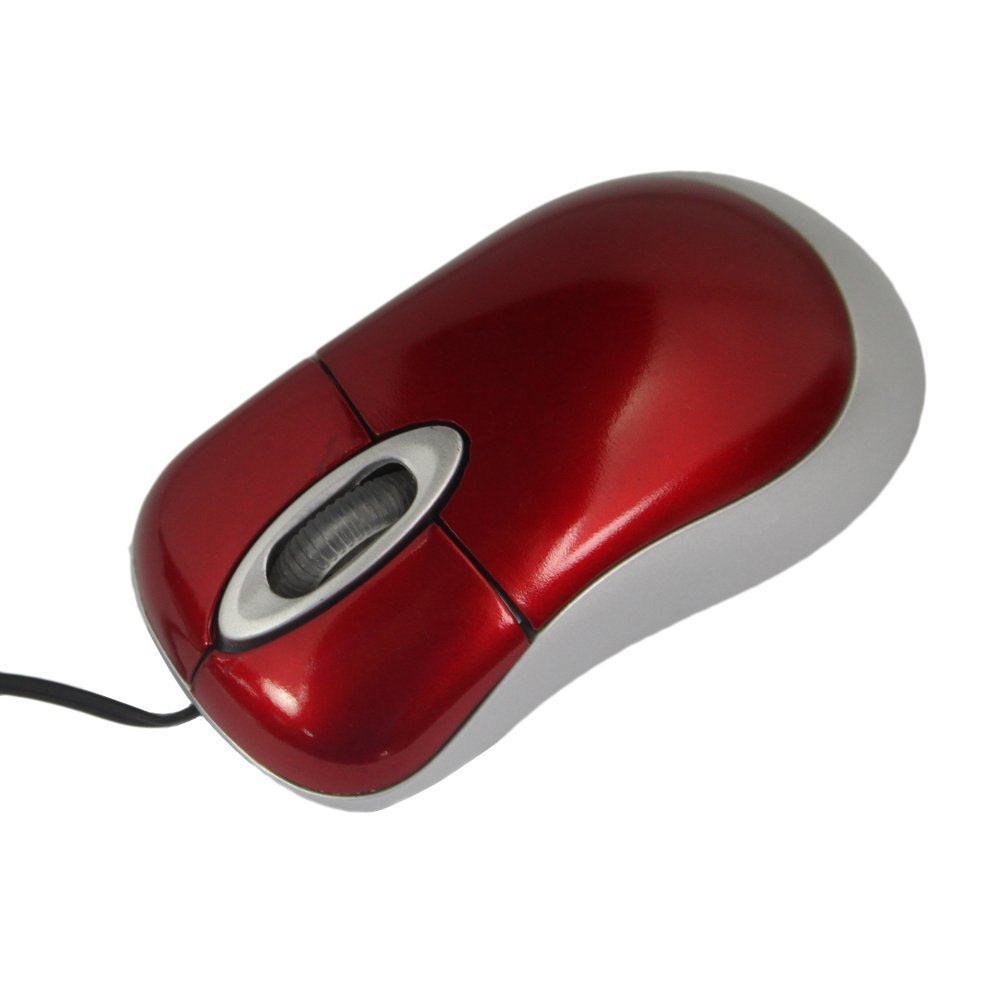 SZS Hot New Hot Sale Comfortable Red Mini Retractable USB Optical Scroll Wheel Mouse(China (Mainland))