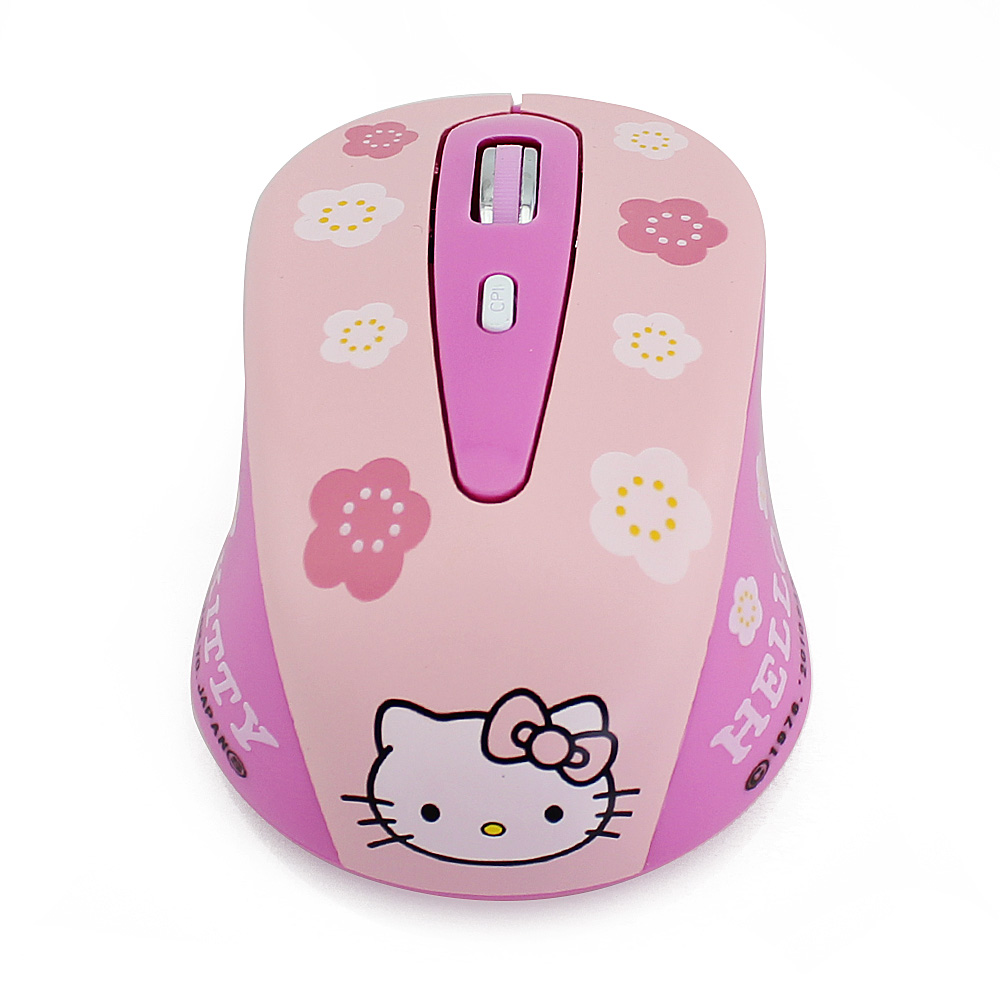 Wireless Mouse Hello Kitty Computer Mouse 2.4GHz 1200DPI Optical Gaming Mouse Mice Pink Free Shipping(China (Mainland))