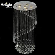 new item Modern led crystal light chandelier hot sale spiral design lustres de cristal stair lighting(China (Mainland))