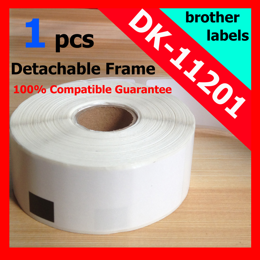 1x Rolls Brother Compatible Labels DK-11201, brother labels,dymo labels 400 labels per roll, DK 11201, DK 1201 29mm x 90mm,(China (Mainland))