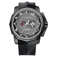 FLAMING V Series 4 Models SF V1/01 V2/01 V3/01 V3/02 Gulf Run Automatic Movement Watches Men with Original Woody Box Gifts(China (Mainland))