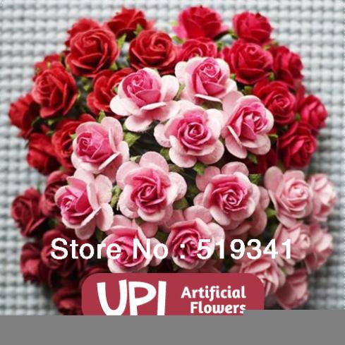 5lot 14 Paper Flowers Mini Rose Decorative Wedding Bouquet Scrapbooking Gift Decor Guests - Union Pacific International Trading Ltd. store