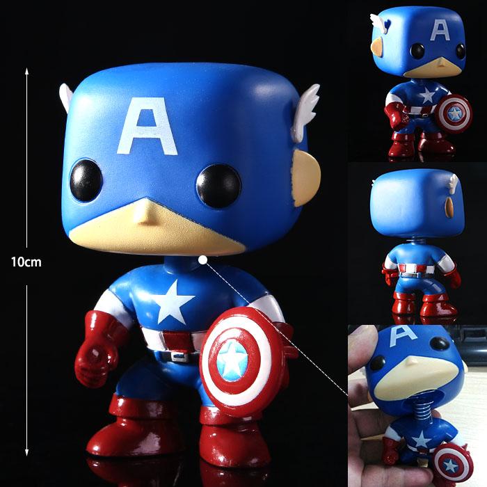 Funko POP Avengers Green Red Hulk Captain America Mini Bobble-Head Marvel Action Figure Toys Anime Collection Furnish Doll #FA(China (Mainland))