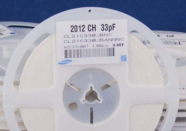 New Original CL21C330JBANNNC Cap Ceramic 33pF 50V C0G 5% SMD 0805(China (Mainland))