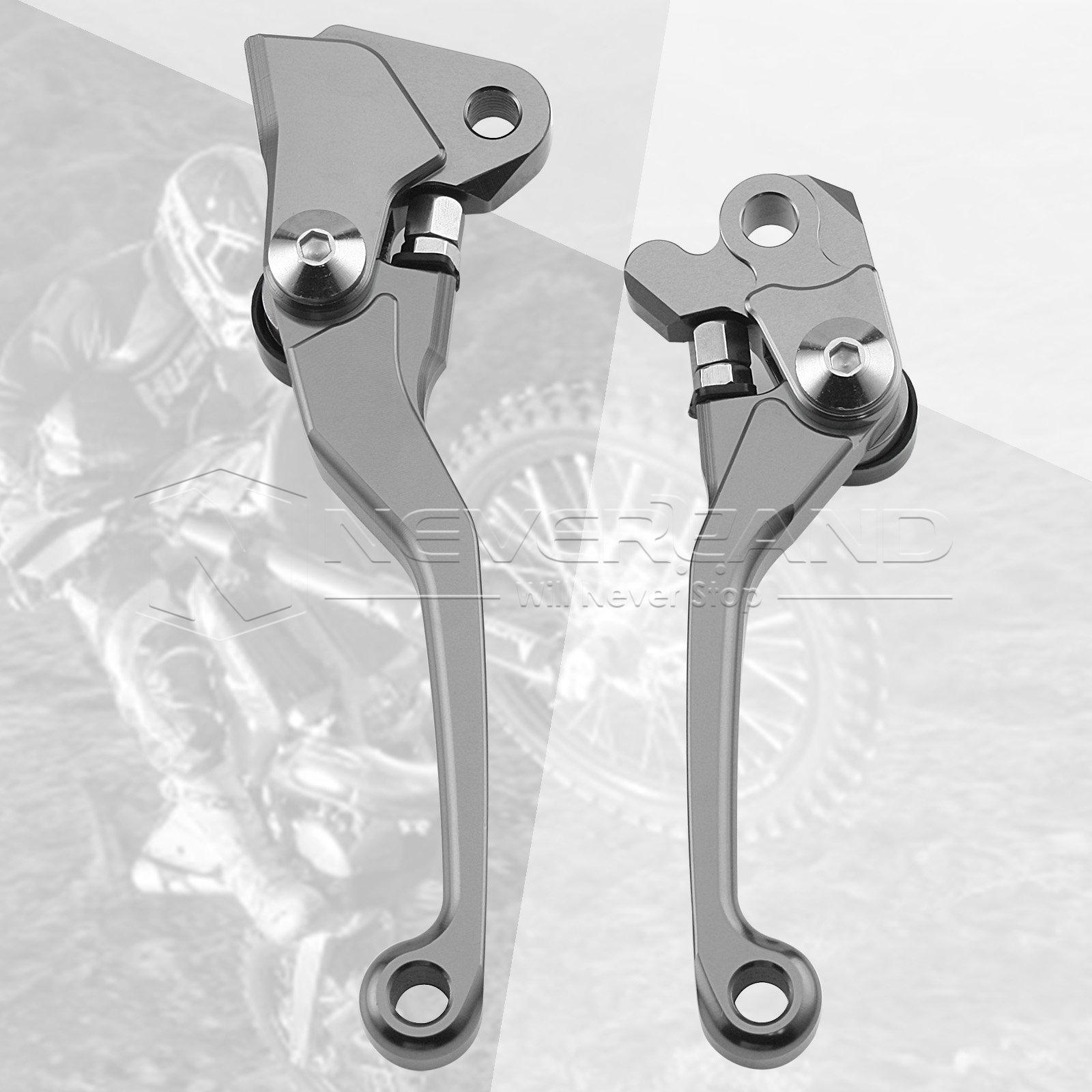 One Pair CNC Pivot Brake Clutch Levers For Yamaha YZ 125 250 250F 426F 450F For
