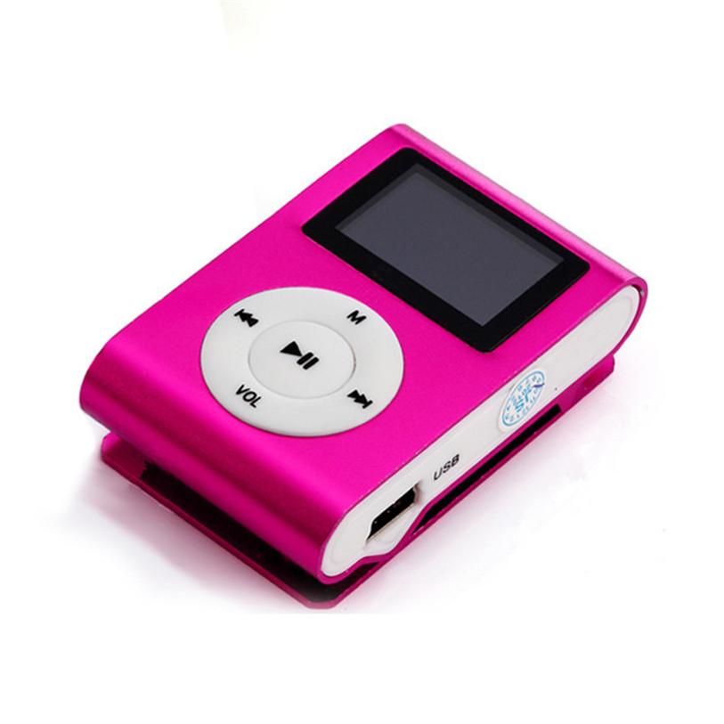 Superior Mini USB Clip MP3 Player LCD Screen Support 32GB Micro SD TF Card July24