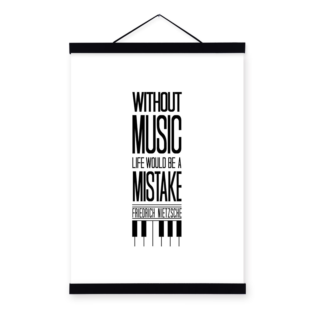 buy 9 music black white modern hippie inspirational quotes typography hipster. Black Bedroom Furniture Sets. Home Design Ideas