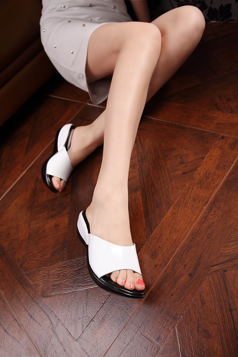 Women sandals genuine leather casual Wedges Platform women slippers shoes for lady slides 2016 Summer sandals shoes women
