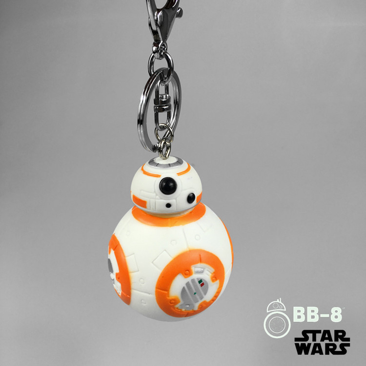 1PC 6cm Star Wars The Force Awakens BB8 R2D2 Droid Robot Dolls Clone Trooper Strap New Year Kids Toys Gift For Children BL1148