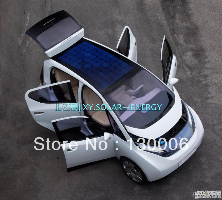 Monocrystalline silicon half flexible solar panel 75 w / 66 v / 48 v electric vehicle roof with solar panels(China (Mainland))