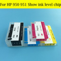 Show Ink Level ARC Chip For HP950 951 HP950XL 951XL Refillable Ink Cartridge For HP Designjet