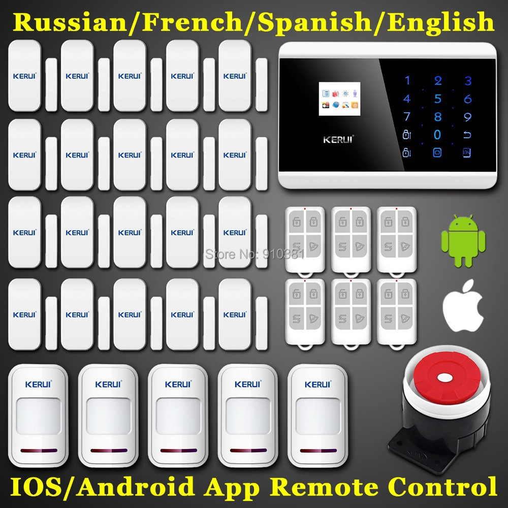 Android IOS APP Remote LCD Smart Dislay+Touch Keypad Quad Band 99 Wireless Zone Dual-network GSM PSTN SMS Home Security Alarm(China (Mainland))