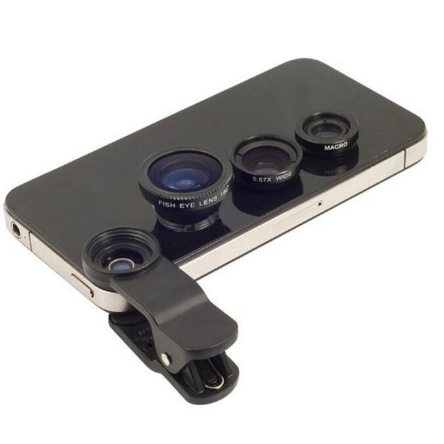 3 in 1 Fish Eye Lens for Mobile Phone Camera Wide + Macro + Fisheye Lenses for Nokia 7200(China (Mainland))
