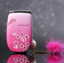 Russian Keboard! W666 Lady Phone with Flower Design Music LED Light Dual Sim Mini Girl Phone Best Gift