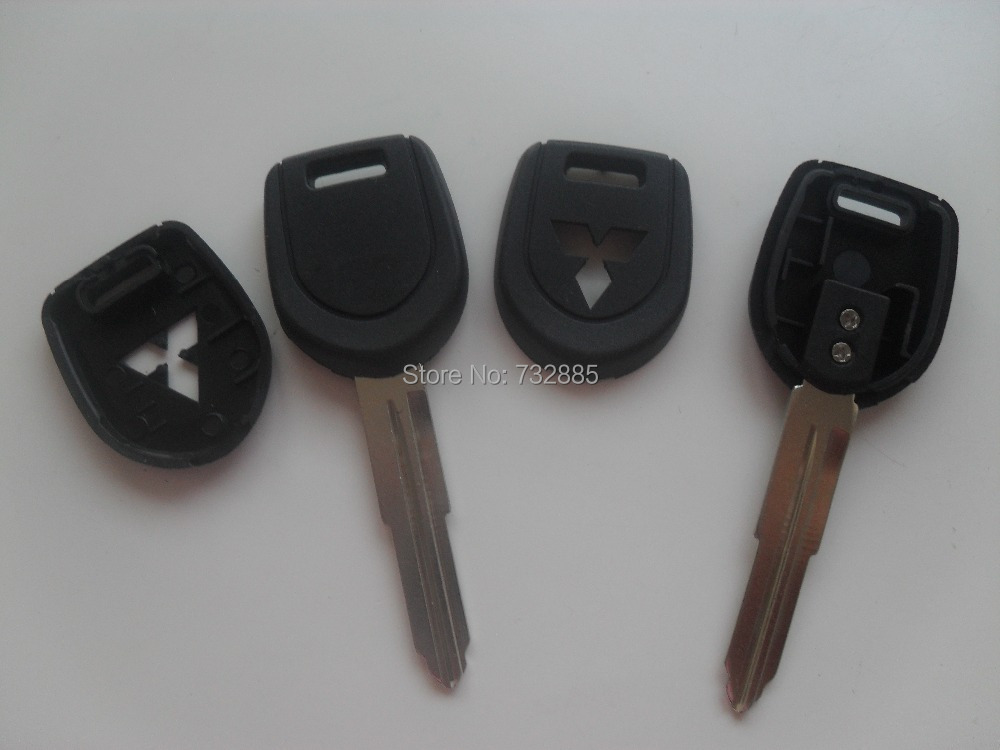 Left Key Blade Mitsubishi Transponder Key Shell Can Install Chip Replacement Key Cover Blanks(China (Mainland))
