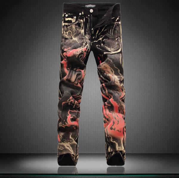 aliexpress   buy 2015 men painted graffiti black jeans