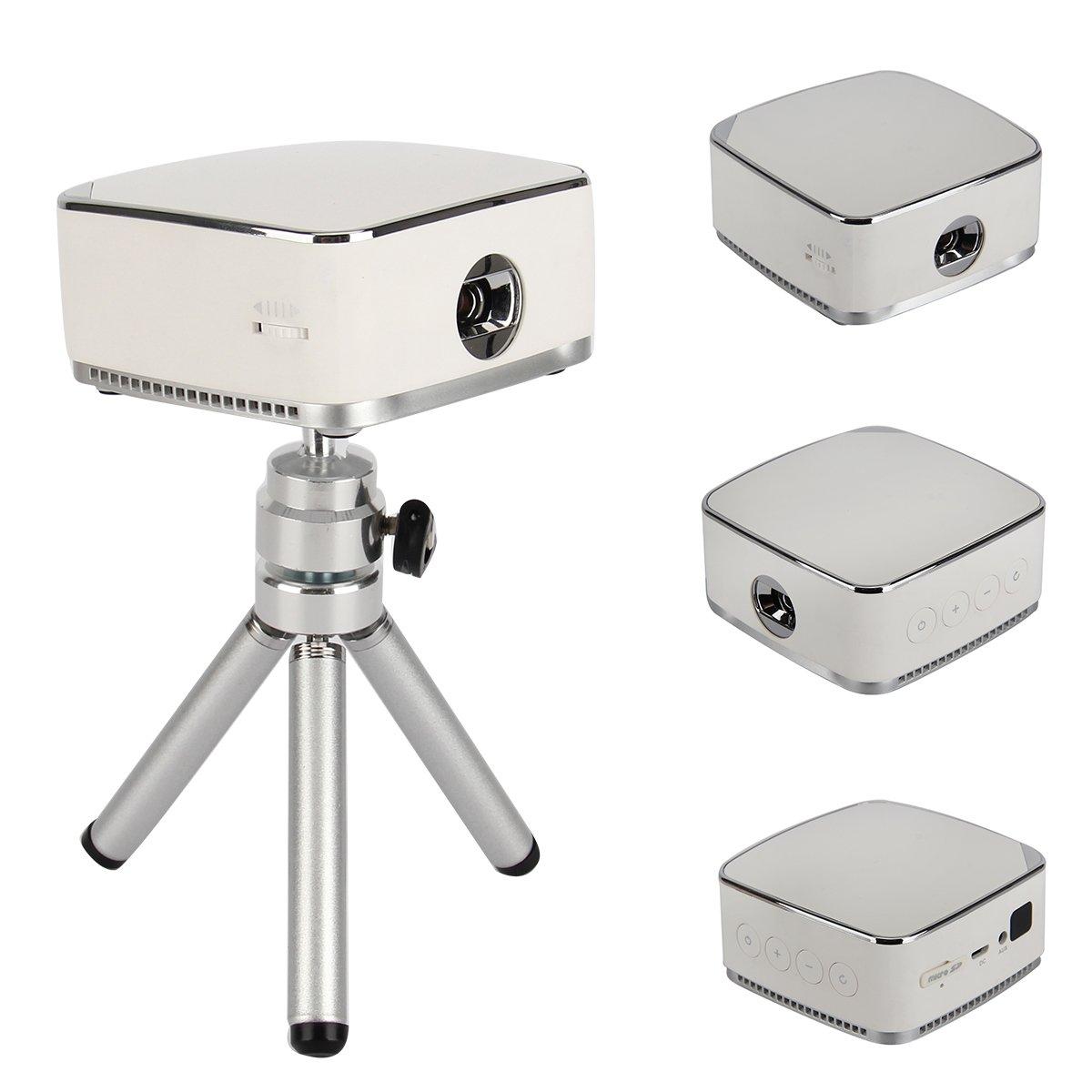 Multimedia mini portable dlp projector hd home theater tf for Mini portable projector reviews