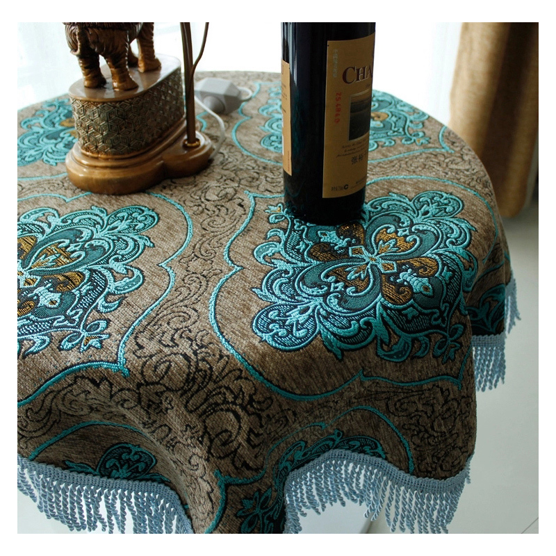Nappe de table cover luxury tablecloths round table cloth - Table ronde nappe ...