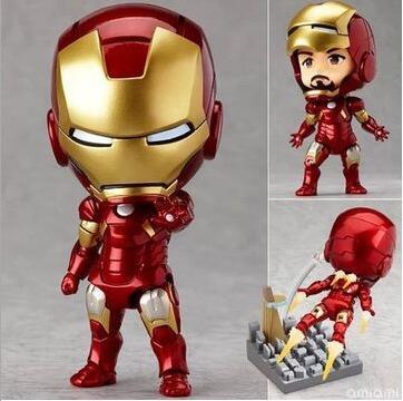 Iron Man Nendoroid movie cartoon Anime Action Figure PVC Collection Model toys brinquedos christmas gift retail box
