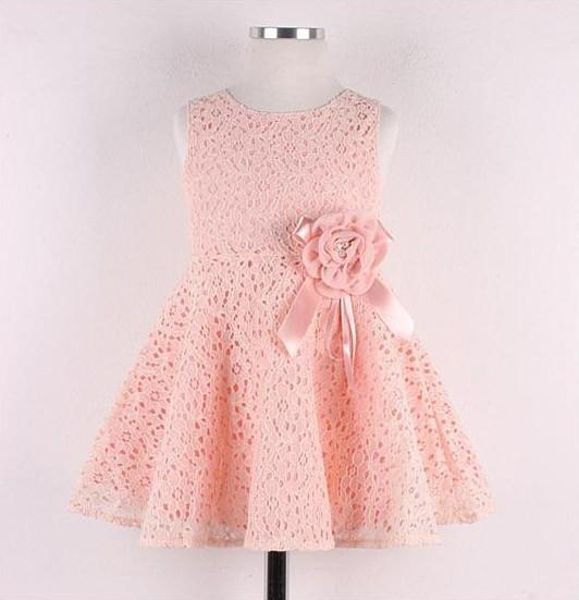 ! 2015 Summer New girls dress,bow princess dress,Children lace dress,kids noble fairy dress high quality(China (Mainland))