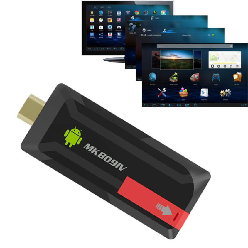 High Quality MK809IV Mini PC TV Dongle Stick Android 4.4 Quad Core XBMC WiFi TV BOX EU Plug B3125